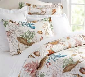 sea life coastal duvet cover sham pottery barn