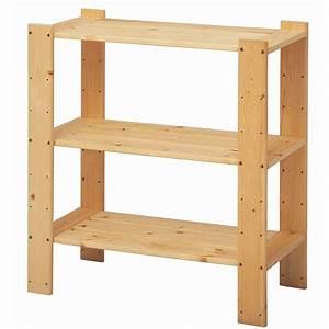 Stor, 3, Shelf, Pine, Shelving