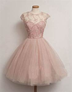 short homecoming dress , pink prom dress, A-line prom ...