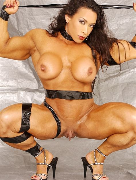 Sexy Busty Female Bodybuilder Hot Ripped Muscular Body