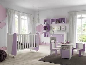 Chambre Bébé Fille : decoration chambre bebe fille mauve ~ Teatrodelosmanantiales.com Idées de Décoration