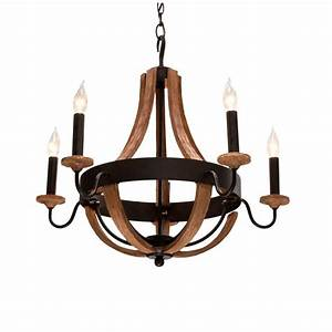Hampton bay talo light driftwood chandelier the