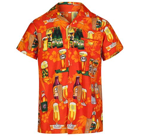 themed shirts mens hawaiian shirt bottle themed party