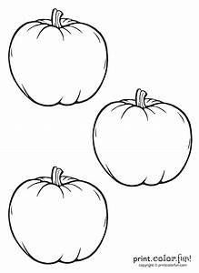 3 Little Pumpkins Coloring Page