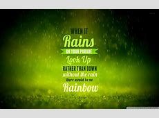 Rain Quote 4K HD Desktop Wallpaper for 4K Ultra HD TV