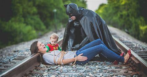 creative wife organizes batman  robin shoot