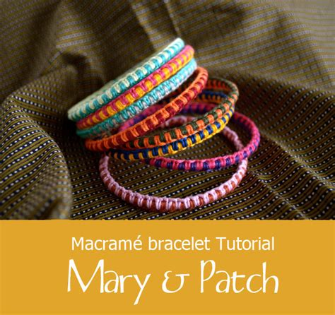 macrame bracelets tutorial mary patch