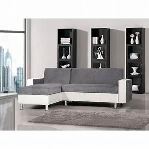 Canapé D Angle Gris Blanc : photos canap d 39 angle gris et blanc pas cher ~ Teatrodelosmanantiales.com Idées de Décoration