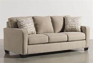 alenya quartz queen sofa sleeper living spaces With alenya sectional sofa in quartz