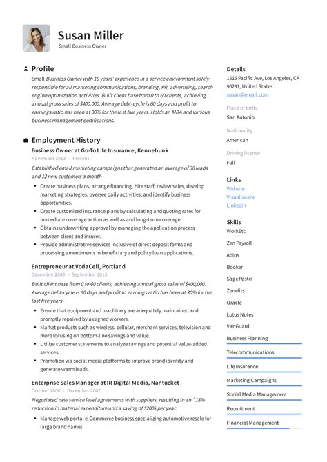 Government Resume Guidelines by Small Business Owner Resume Guide 12 Exles Pdf 2019