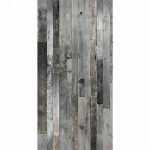 Revetement Bois Mural : barn wood look wall panel 48 x 96 grey rona ~ Melissatoandfro.com Idées de Décoration