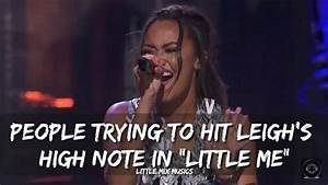 "PEOPLE TRYING TO HIT LEIGH'S HIGH NOTE IN ""LITTLE ME ..."