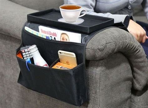 6 Pocket Arm Rest Organizer With Table-top
