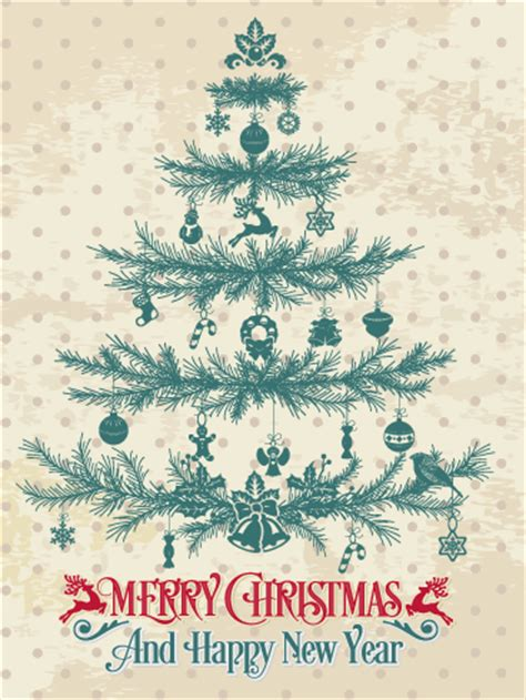 Classic Christmas Tree Card  Birthday & Greeting Cards By