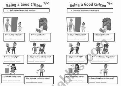 Citizen Worksheet Worksheets Being Simple Yes Questions