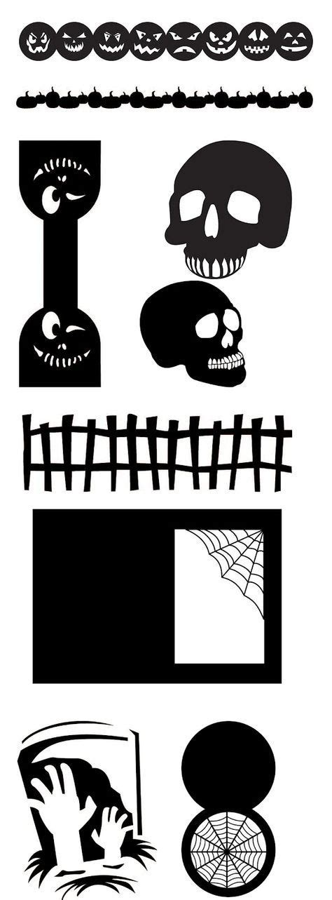 Download and upload svg images with cc0 public domain license. FREE SVG halloween cards wraps/bag topper borders skulls ...