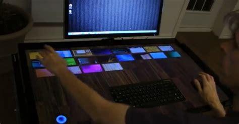 le bureau tactile exodesk le bureau tactile de 40 pouces de exopc