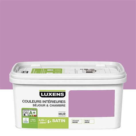 peinture cuisine violet peinture violet tulipe 5 luxens couleurs intérieures 2 5 l