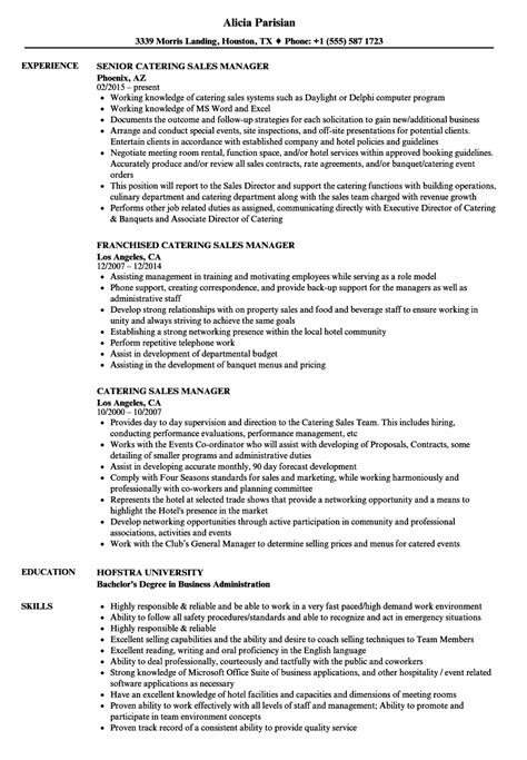 Catering Resume by Catering Sales Manager Resume Photos Catering Sales