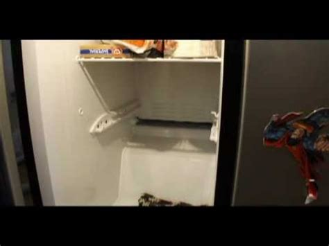 ge maker leaking water floor diy how to thaw out your frozen freezer drain