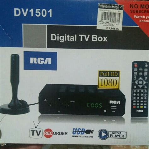 Harga Rca Digital Tv Box rca digital tv box electronics others on carousell