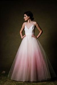 sample sale ombre dip dyed tulle ballgown wedding dress With dip dyed wedding dress for sale