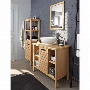 Beautiful meuble rangement salle de bain alinea gallery for Salle de bain design avec rangement salle de bain castorama
