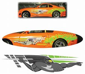 Fast and furious paul walker supra decal car accessories for Kitchen cabinets lowes with paul walker car sticker
