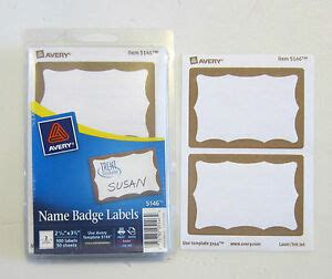 50 avery dennison gold border badges name tags id labels adhesive peel label 72782051464 ebay