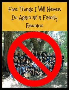 Things to Do at a Family Reunion