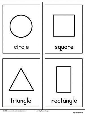 geometric shapes printable flashcards shapes worksheets