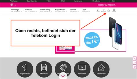 telekom login zum  mail center und kundencenter login