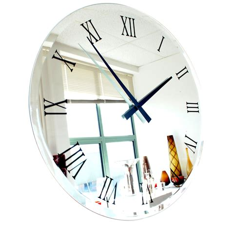 universal bathroom design compact wall clock mirror 78 decorative mirror wall clock