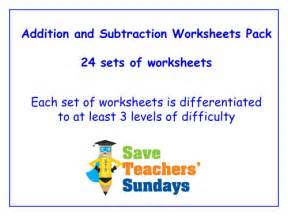 ks1 addition and subtraction worksheets pack 11 sets of