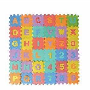 36 large educational eva foam alphabet letters numbers With foam letter puzzle