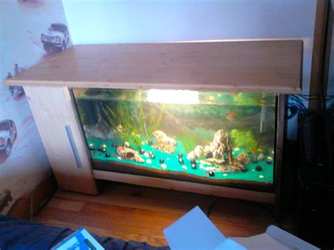 table basse avec aquarium integre fabrication meuble tv aquarium