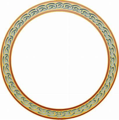 Celtic Circle Border Knot Frame Ring Pixel
