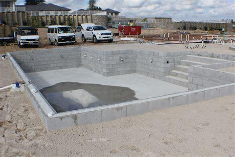 Concrete Block Wall Swimming Pool Plans • Swimming Pools