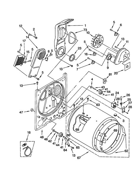 Kitchenaid Parts Dryer by Bulkhead Diagram Parts List For Model Keys850jq0
