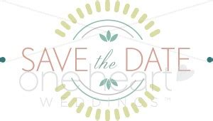 save  date clipart wedding accents