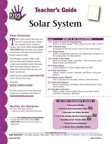 solar system for preschoolers lesson plans solar system lesson plans kindergarten page 2 pics 400