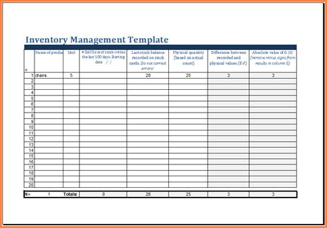 inventory management spreadsheet excel spreadsheets group