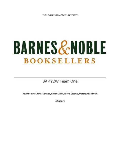 barnes and noble penn state strategic analysis on barnes and noble