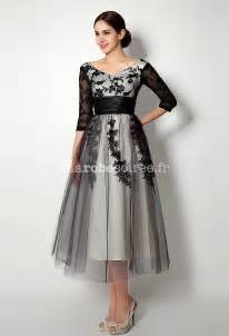 robe de mariã e manche robe de mère de mariée manches longues dentelle noir
