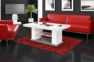 Tisch Weiß Hochglanz Ausziehbar : design couchtisch hn 777 wei grau hochglanz h henverstellbar ausziehbar tisch kaufen bei ~ Buech-reservation.com Haus und Dekorationen