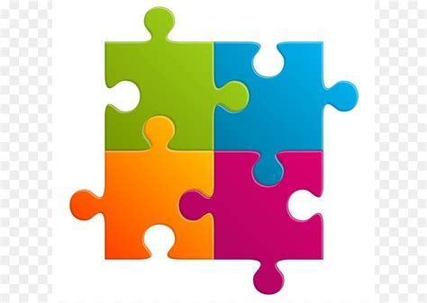 jigsaw puzzles puzz  clip art colorful puzzle icon png