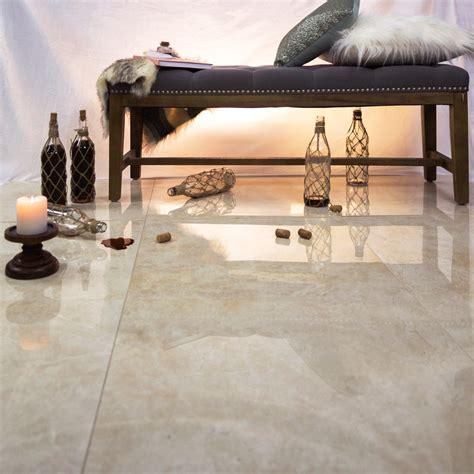Polished Porcelain Tiles by Marmi Tech Crema Marfil 24x24 Polished Porcelain Tile