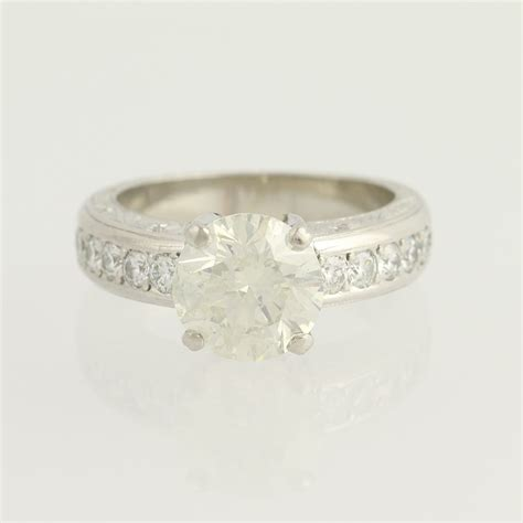 beaudry diamond engagement ring 900 platinum 22k