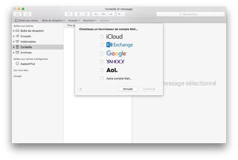 adresse si e air configurer un compte apple mail pour macos et mac os x