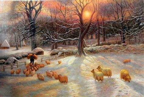 joseph farquharson oil painting repro  shortening